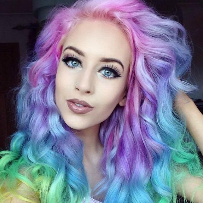 šarena boja kose Da li biste imali hrabrosti da ispoštujete ovaj trend na venčanju?