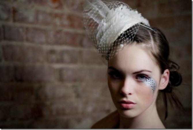 šešir za venčanje Šeširi za mladu poput filmske dive