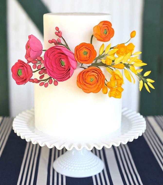 Jednostavna svadbena torta Elegantne mladenačke torte