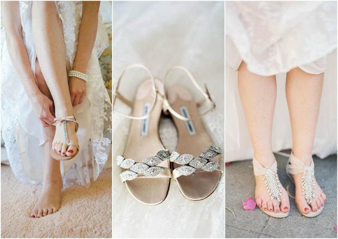 ravne sandale za svadbu Budite elegantne u ravnoj obući na venčanju