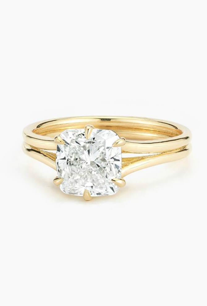 vereničko prstenje belo žuto zlato Verenički prsten od belog i žutog zlata