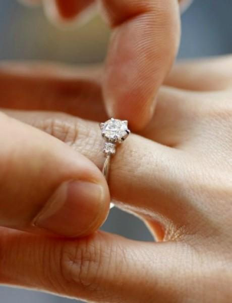 Verenički prsten od belog i žutog zlata