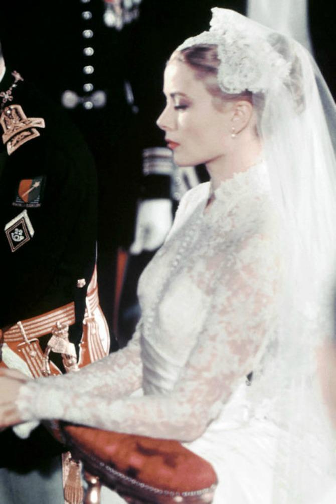 Grejs Keli na venčanju Neka vam frizure sa venčanja poznatih budu inspiracija