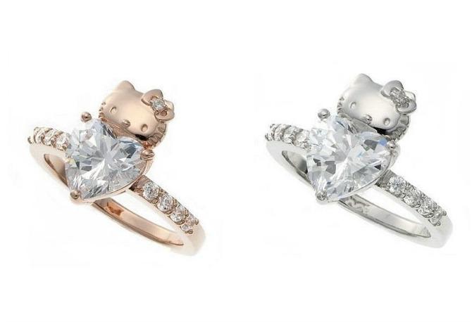 Hello Kitty verenički prsten Prelepo vereničko prstenje