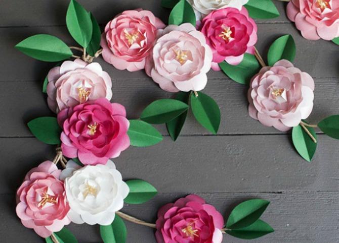 cvetovi od papira za venčanje Cveće od papira je novi trend u dekorisanju venčanja