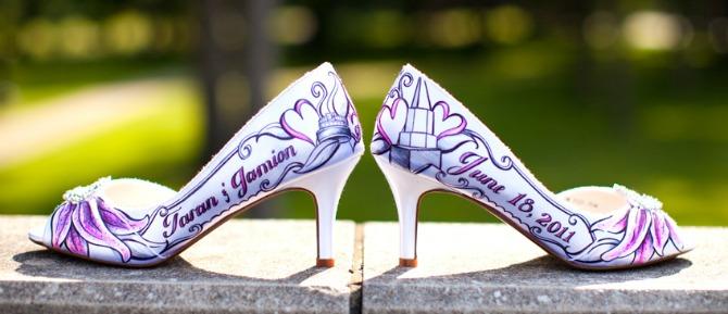 oslikane cipele za vencanje1 Oslikajte obuću za venčanje