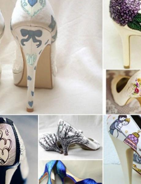 Oslikajte obuću za venčanje