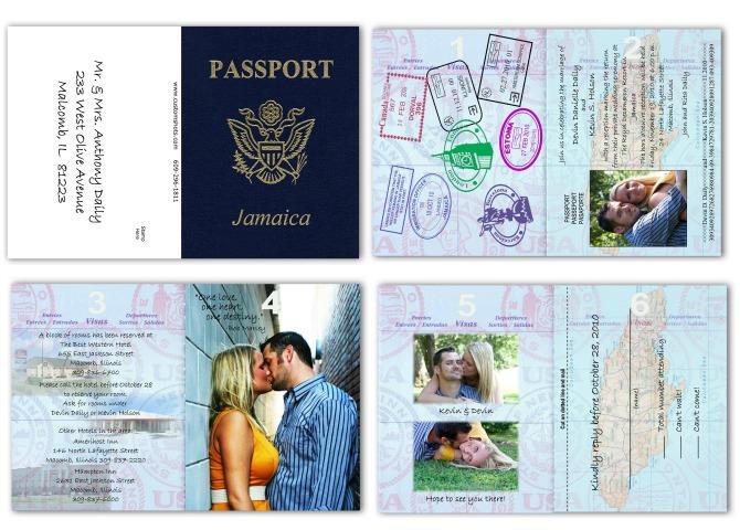 pasoš pozivnica za venčanje Inspirativne pozivnice za venčanja