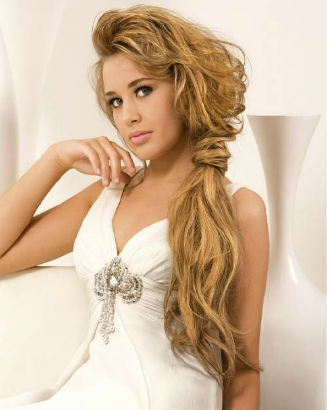 prirodna boja kose za venčanje Savršena frizura za mladu