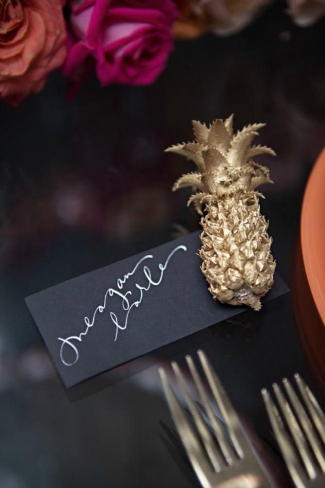 anans kao dekoracija za venčanje Ananas kao najlepša dekoracija za letnje venčanje