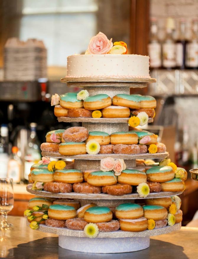 krofne kao dekoracija za venčanje Kreativne ideje: Krofnama dekorišete svoje venčanje