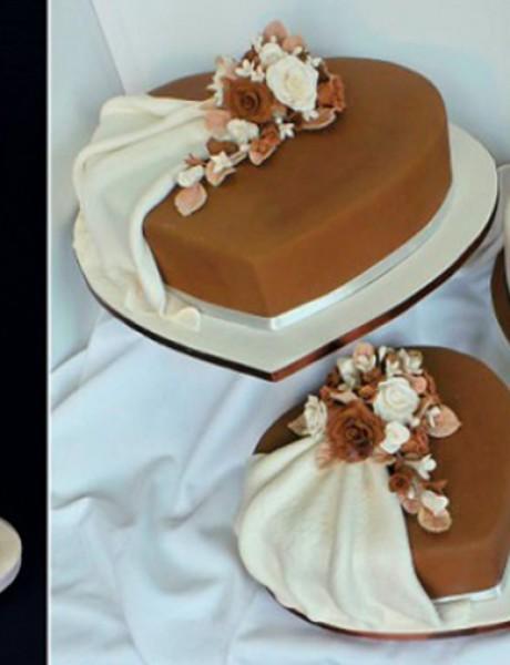 Mladenačke torte u obliku srca