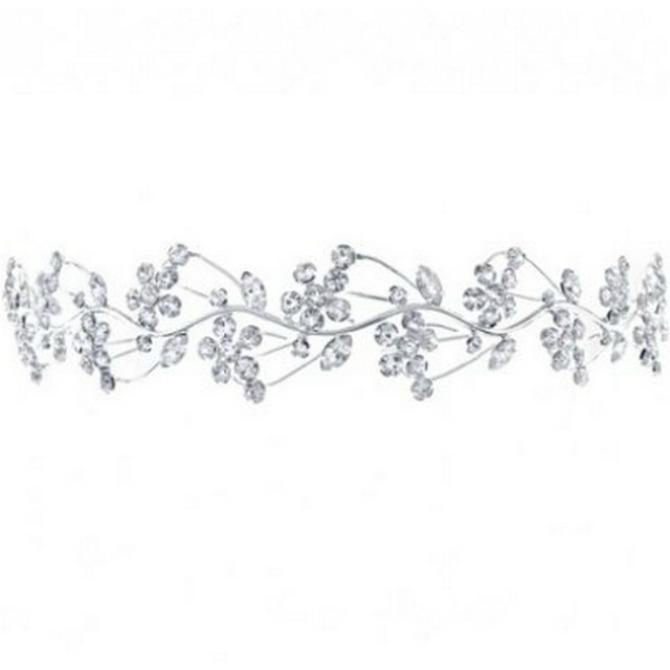 tijara jednostavnijeg izgleda Vrste tijara za venčanje