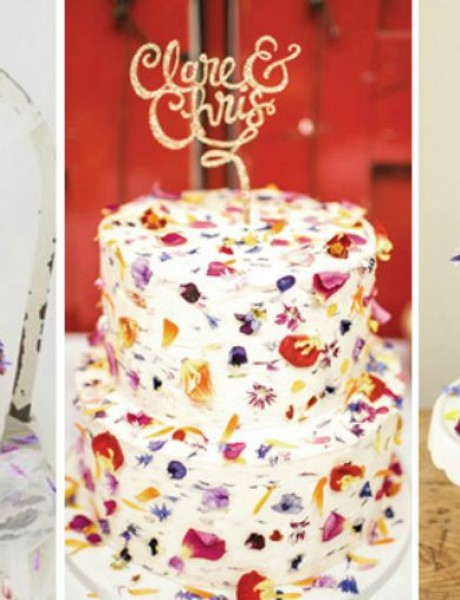 Najlepše mladenačke torte ukrašene cvećem