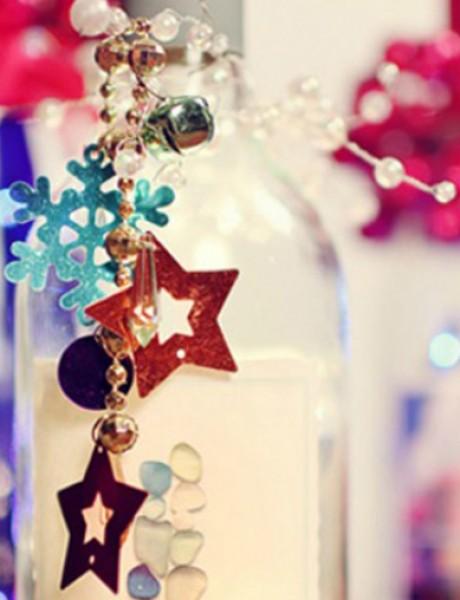 Ukrasne flaše kao dekoracija za venčanje