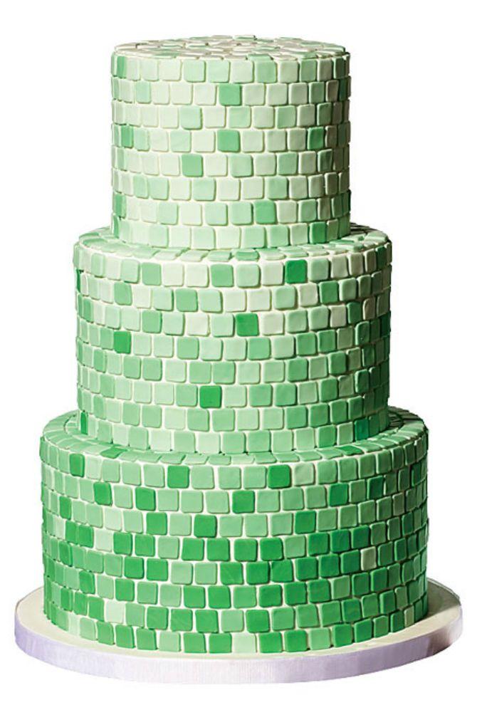 mladenacka torta u zelenoj boji Interesantne svadbene torte