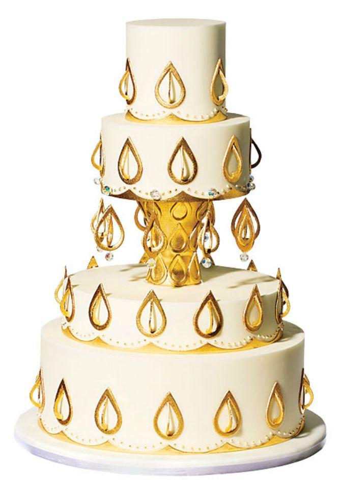 trota ukrasena kristalima Interesantne svadbene torte
