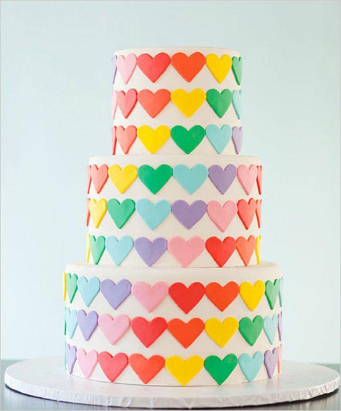 wannabe magazin torta Dekorišite venčanje veselim bojama