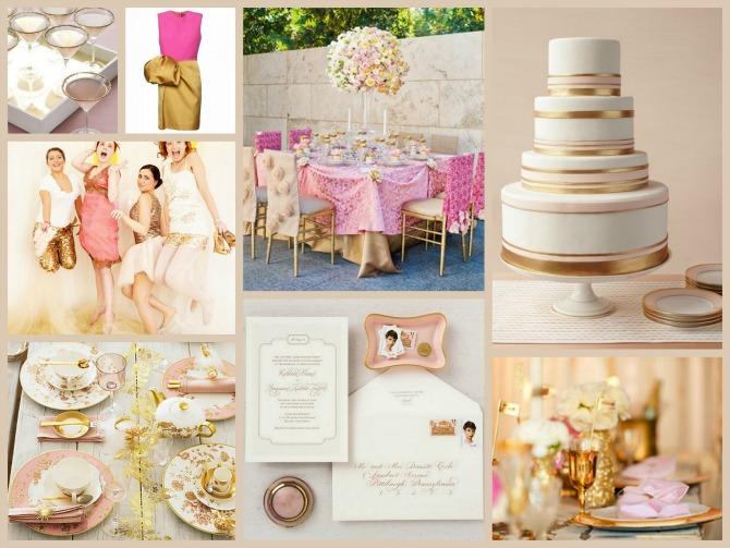 zlatna boja za vencanje Zlatna boja na venčanju je u trendu