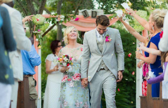 Dženi Gart i Dejv Abrams Bajkovito venčanje američke glumice Dženi Gart