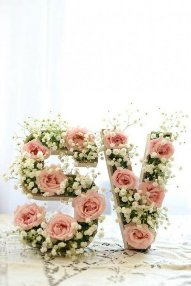 cvetna dekoracija3 Neobične ideje za cvetne dekoracije na venčanju