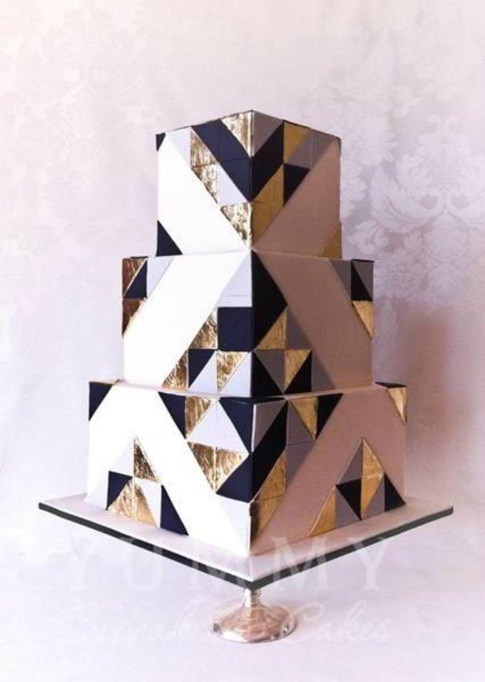 geometrijske torte 1 Geometrijski pravilne svadbene torte
