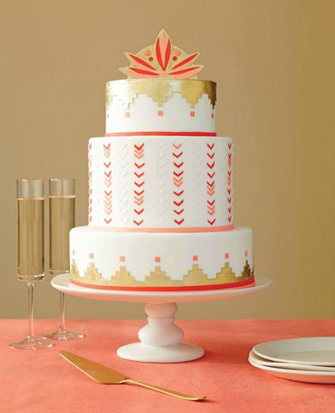 geometrijske torte 2 Geometrijski pravilne svadbene torte