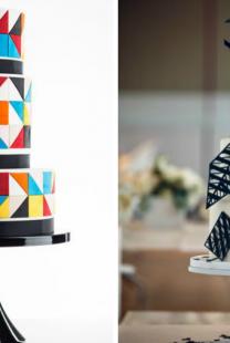 Geometrijski pravilne svadbene torte