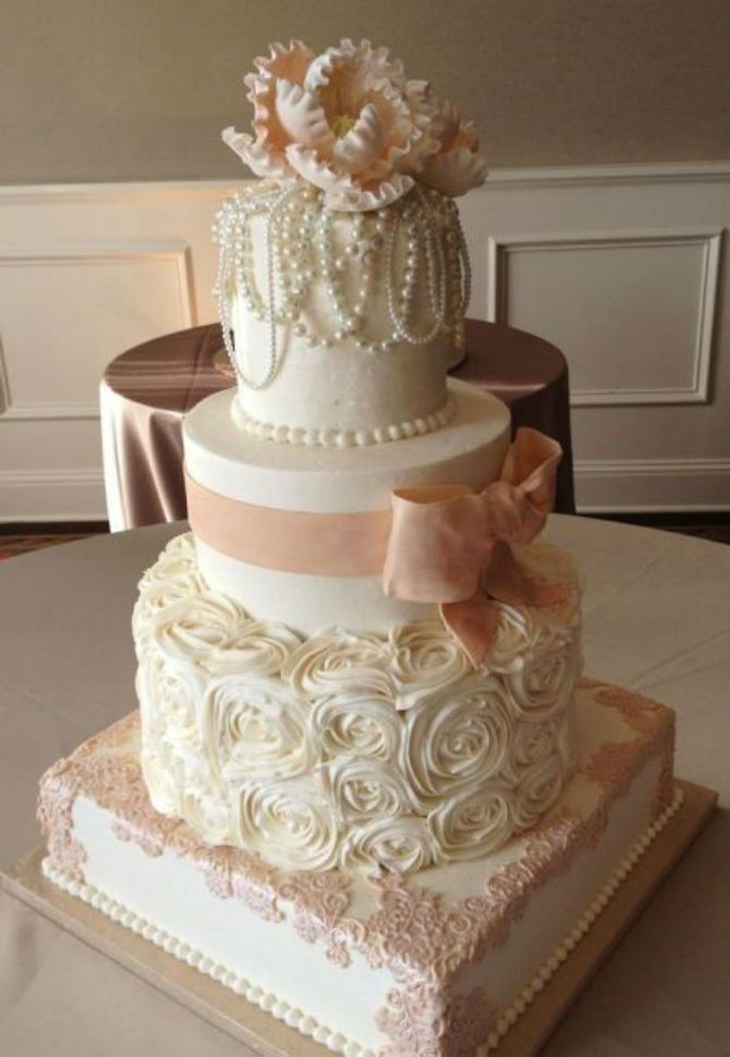 mladenačke torte ukrašene mašnom6 Neodoljive mladenačke torte ukrašene mašnom