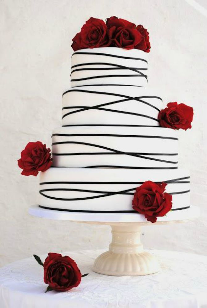 mladenacka torta na pruge11 Elegantne prugaste mladenačke torte