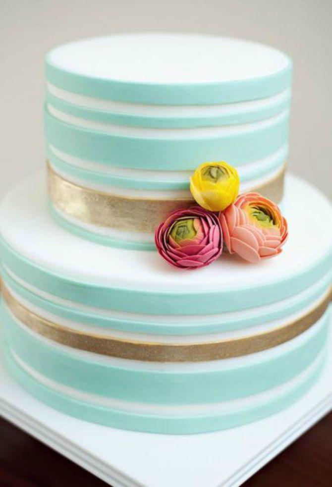 mladenacka torta na pruge2 Elegantne prugaste mladenačke torte
