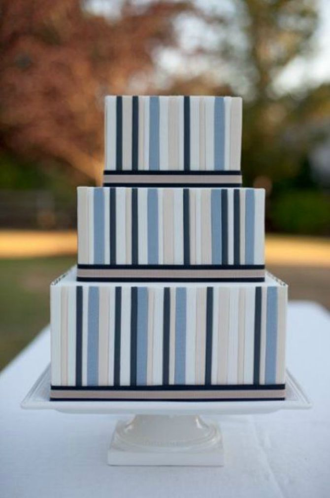 mladenacka torta na pruge31 Elegantne prugaste mladenačke torte