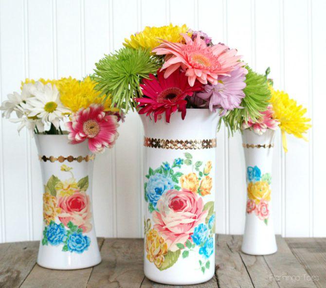 vaze u boji1 Napravite sami dekorativne vaze za venčanje