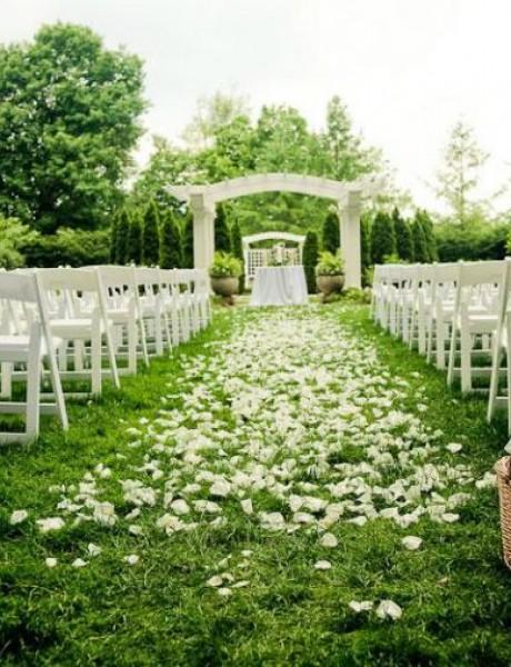 Ideje za ukrašavanje bašte za venčanje