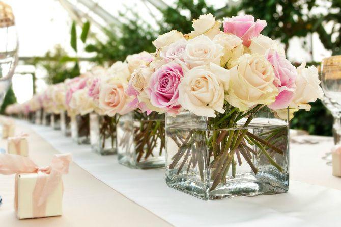 wedding rose 11 Bajkovite ideje za dekoraciju stolova