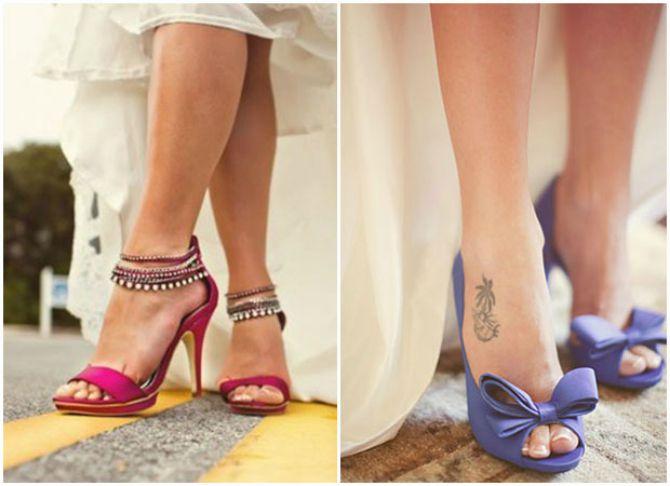 cipele u boji za mladu1 Venčajte se u cipelama živopisnih boja