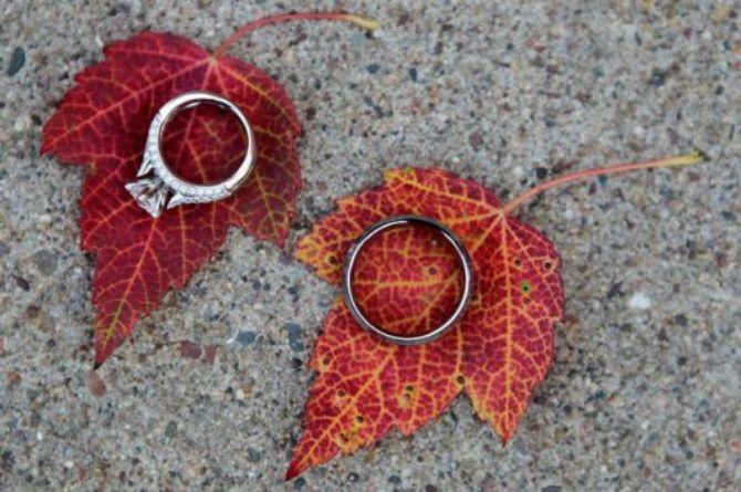 ideje ya vencanje opalo lisce Opalo lišće kao dekoracija na venčanju