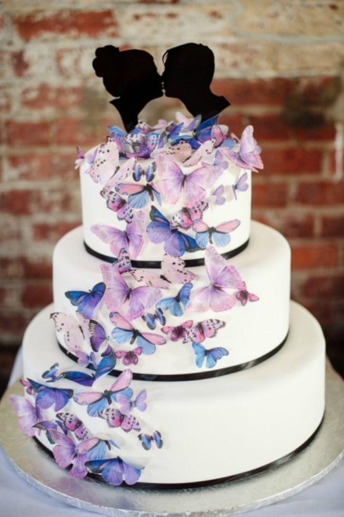 mladenačke torte ukrašene lepitirma Mladenačke torte ukrašene leptirima