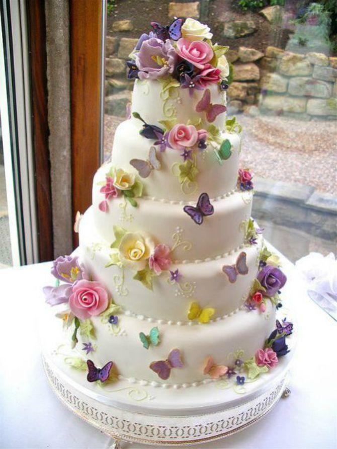 mladenačke torte ukrašene lepitirma4 Mladenačke torte ukrašene leptirima