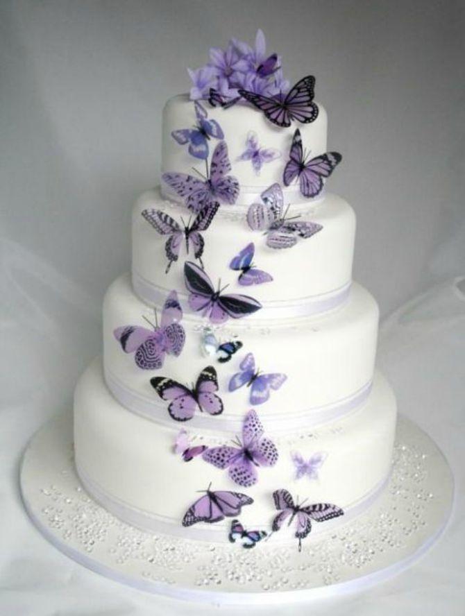 mladenačke torte ukrašene lepitirma5 Mladenačke torte ukrašene leptirima