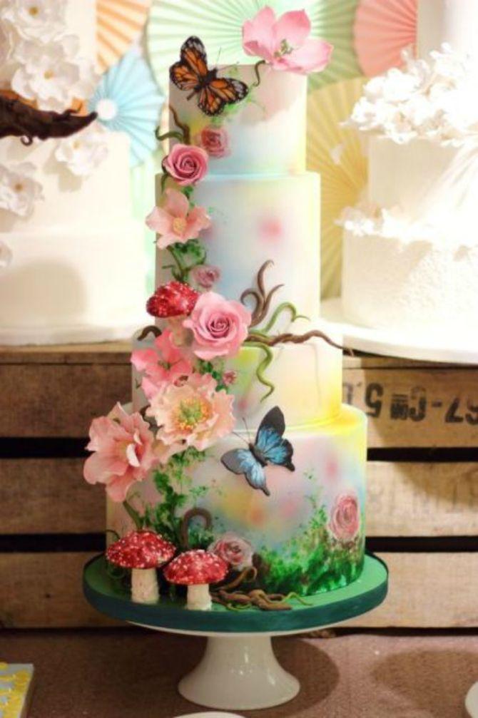 mladenačke torte ukrašene lepitirma6 Mladenačke torte ukrašene leptirima