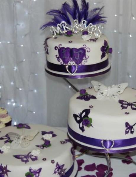 Mladenačke torte ukrašene leptirima