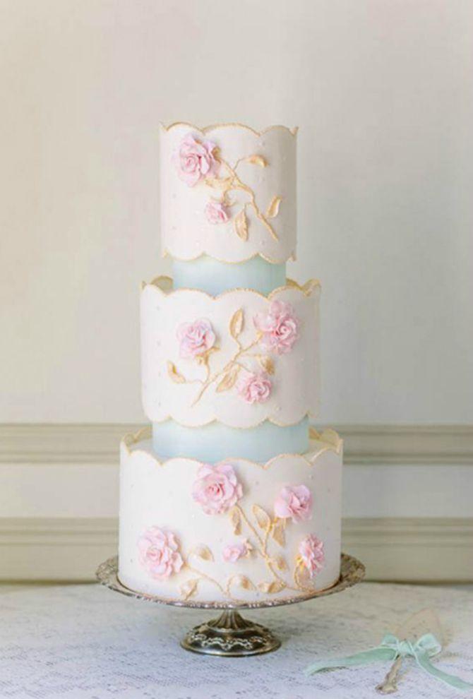torta za vencanje6 Mladenačke torte kao iz bajke