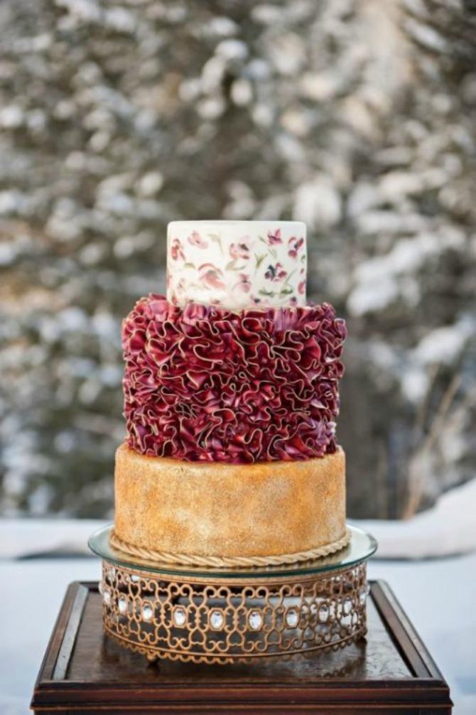 mladenačke torte u boji crvenog vina21 Najlepše mladenačke torte u boji crvenog vina