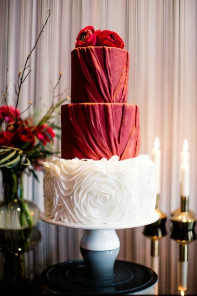 mladenačke torte u boji crvenog vina3 Najlepše mladenačke torte u boji crvenog vina