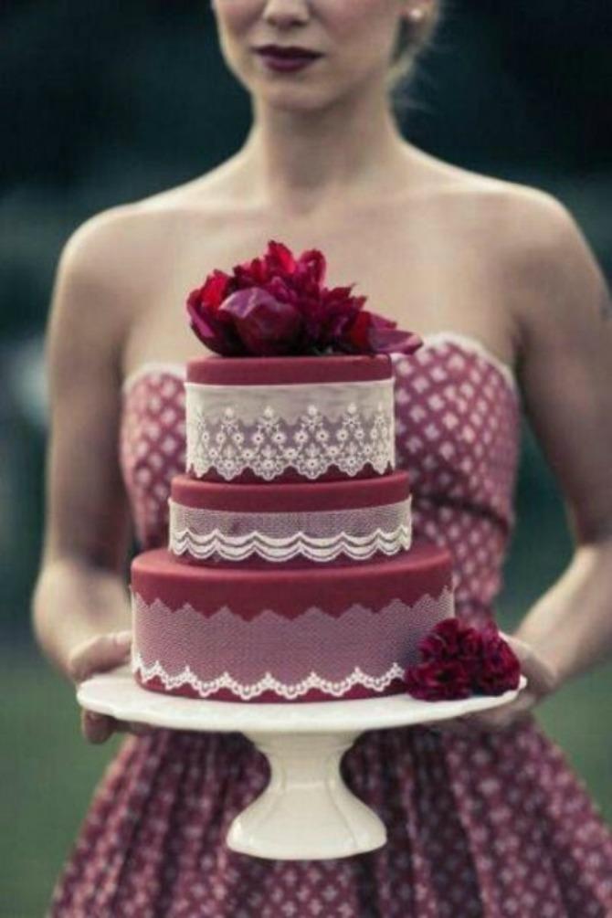 mladenačke torte u boji crvenog vina31 Najlepše mladenačke torte u boji crvenog vina