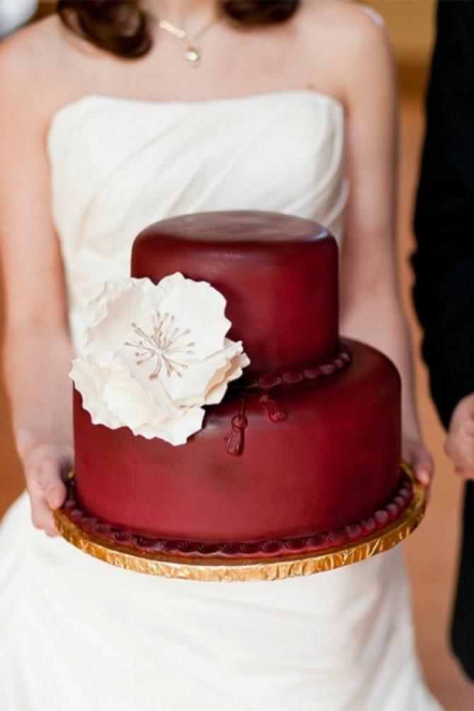 mladenačke torte u boji crvenog vina4 Najlepše mladenačke torte u boji crvenog vina