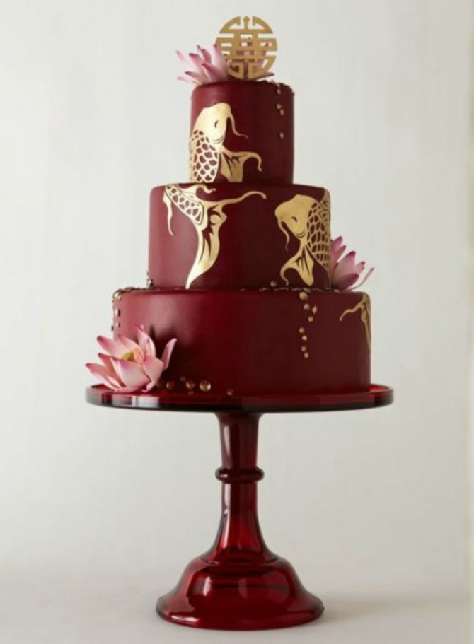 mladenačke torte u boji crvenog vina41 Najlepše mladenačke torte u boji crvenog vina