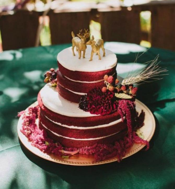 mladenačke torte u boji crvenog vina5 Najlepše mladenačke torte u boji crvenog vina