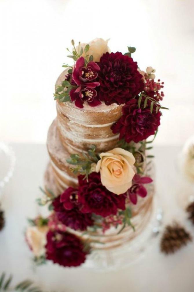 mladenačke torte u boji crvenog vina6 Najlepše mladenačke torte u boji crvenog vina